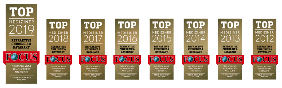 EuroEyes won the Top Mediziner awards 2012-2019